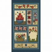 Liberty Hill - Faith & Family Blue/Multi Panel