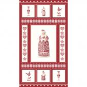 Nordic Christmas - Santa Red Panel