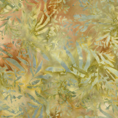 Tonga Batiks - Nutmeg Foliage Autumn Yardage