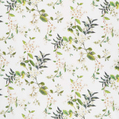 Bouquet - Floral Trail White Multi Digitally Printed Yardage