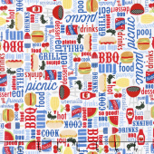 Patriotic Picnic - Main White Yardage