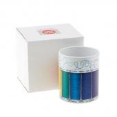 Quilt Happy Colorful Spools Mug