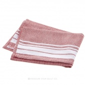 Tea Towel - Stripe Border Red