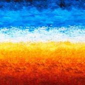 Vincent Van Gogh 3 - Brushstroke Ombre Sunset Digitally Printed Yardage