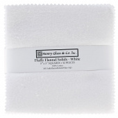Fluffy Solids White Flannel Charm Pack