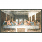 Leonardo Da Vinci - The Last Supper Painting Antique Digitally Printed Panel
