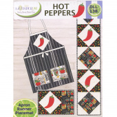 Hot Peppers Apron, Runner & Placemat Patten