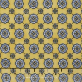 La Provence - Grid Yellow Yardage