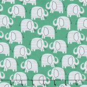 Wild About You - Elephants Green Yardage