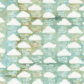 Forecast Batiks - Clouds Glacier Yardage