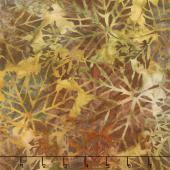 Artisan Batiks - Cornucopia 9 Leaves Pumpkin Yardage
