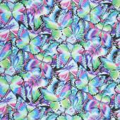 Nature Studies - Butterflies Jewel Digitally Printed Yardage