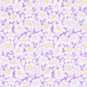 Nana Mae IV - Large Daisy Purple Yardage
