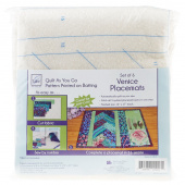 Venice Place Mat Quilt As You Go Preprinted Batting