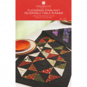 Flickering Starlight Reversible Table Runner Pattern by Missouri Star