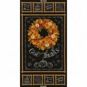 Autumn Bounty - Wreath Chalkboard Black Metallic Panel