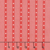 Mackinac Island - Striped Star Red Yardage