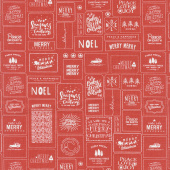 The Christmas Card - Cards Red Yardage