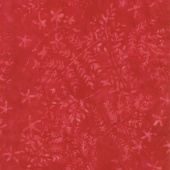 Tonga Batiks - Dazzle Branches and Buds Cherry Yardage