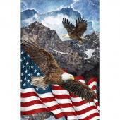 Stonehenge Stars and Stripes VII - Eagle Soaring High Digitally Printed Panel