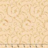 "Beautiful Backings - Elegant Scroll Tapestry 108"" Wide Backing"