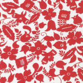 Feed Sacks: Red Rover - Ruby Botanica Ruby Yardage