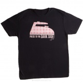 Press to the Dark Side 2X-Large Women's Fitted Crew Neck T-Shirt - Black
