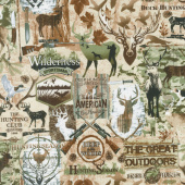 Animals - Deep in the Woods Deer Natural Yardage