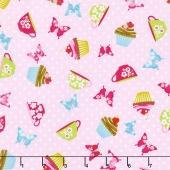 Cupcake Cafe - Cupcake Toss Pink Yardage