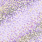 Pansy Noir - Mini Flutter Lilac Metallic Yardage