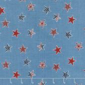 Celebrate America! - Stars Blue Yardage