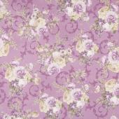 Meredith - Flowers Violet Yardage