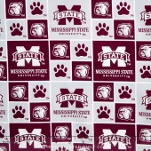 College - Mississippi State University Allover Yardage