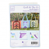 Tori Tote Bag Quilt As You Go Preprinted Batting