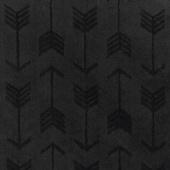 """Cuddle Embossed Arrow - Black 60"""" Minky Yardage"""
