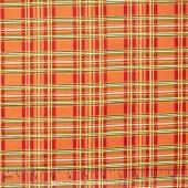 Autumn Bounty - Plaid Orange Metallic Yardage