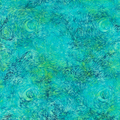 Gemstones Batiks - Starry Night Cool Waters Yardage