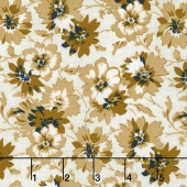 Faded Memories - Faded Petals Gold Yardage