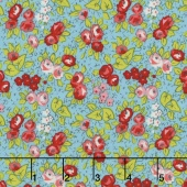 Linen and Lawn - Floral Blue Cotton Lawn Yardage