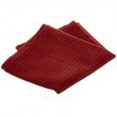 Tea Towel - Solid Red Waffle