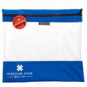 "Missouri Star's SEEYOURSTUFF Bag 12"" x 13"" - Royal"