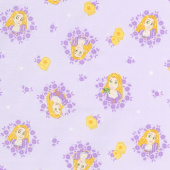 Disney Forever Princess - Rapunzel in Wreaths in Lilac Yardage