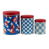 True Blue Feedsacks Tin Set