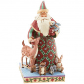 Jim Shore Heartwood Creek Santa's Creature Comforts Figurine