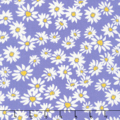Painted Garden - Daisies For Days Hyacinth Yardage