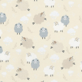Sweet Dreams - Dreamy Sheep Buttercream Yardage