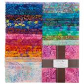 Artisan Batiks - Bright Blooms Ten Squares