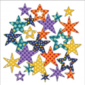 Bohemian Chic Dotz Stars Fusible Appliqué Shapes