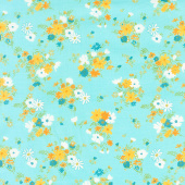 A Blooming Bunch - Easy Breezy Aqua Yardage