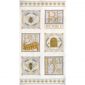Bee Joyful - Bee Laurel White Panel